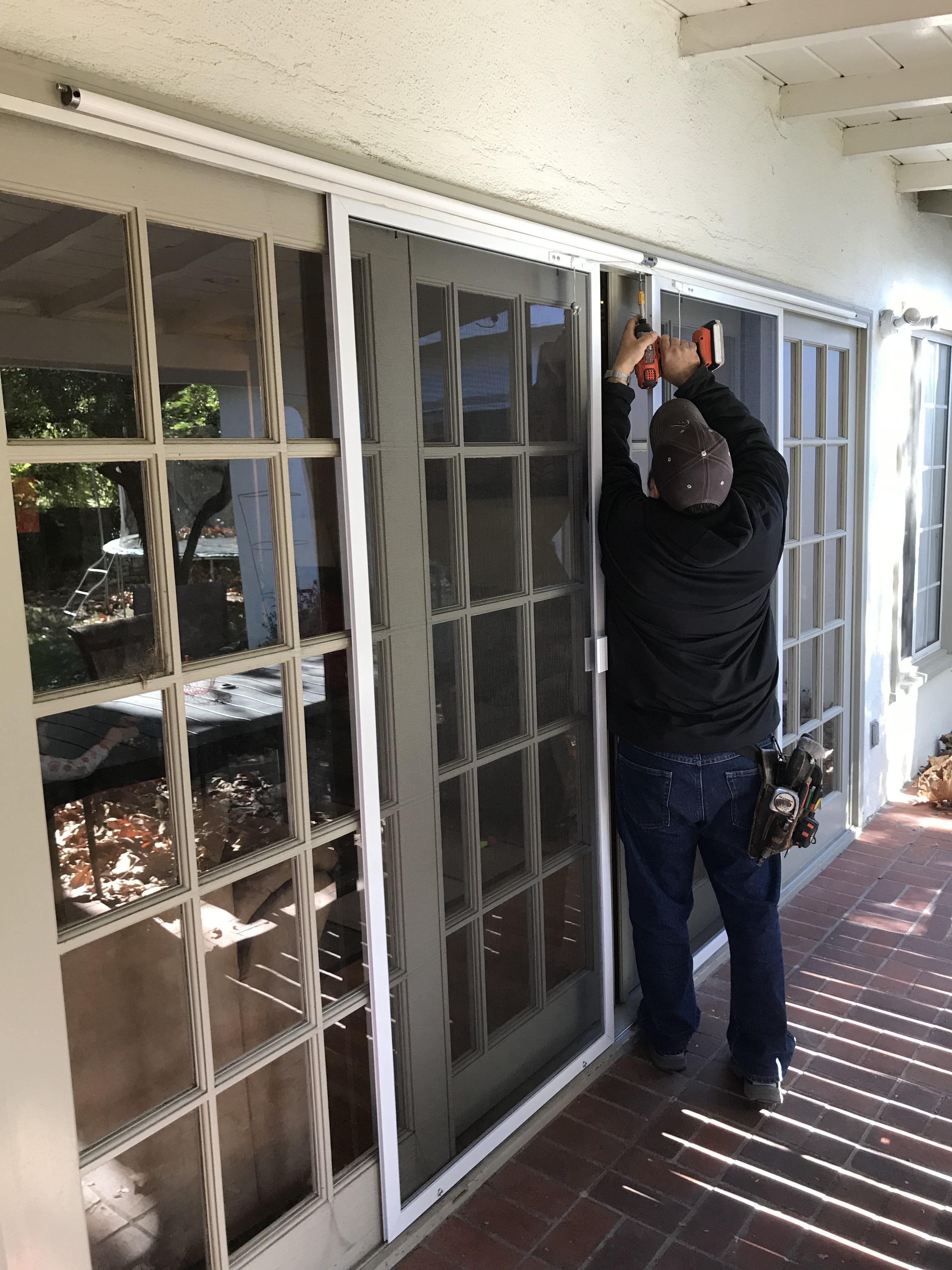 change sliding screen door