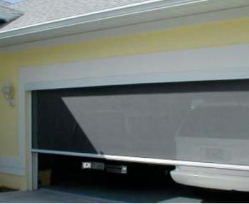 Garage screen door |