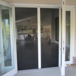 Double Set of Retractable Screen Doors in Point Dume, Malibu
