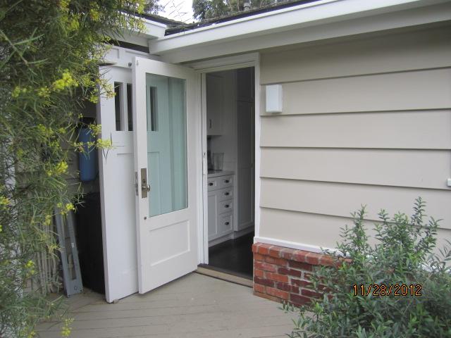 Retracted Single Retractable Screen Door in Point Dume, Malibu |