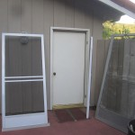 Swinging Screen Door in Calabasas