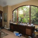 Double Set of Arched Window Screen in Kitchen | Arched Retractable Screen Doors in Malibu