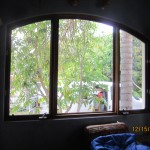 Double Set of Arched Window Screen