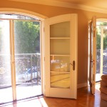 Malibu Double Set of Arched Screen Doors with Arched top Screen Header