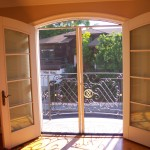 Malibu Double Set of Arched Screen Doors with Arched top Screen Header | Arched Retractable Screen Doors in Malibu