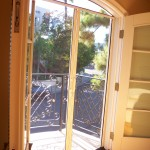 Arched French doors with Retractable Screen Doors & Arched Screen Top Header