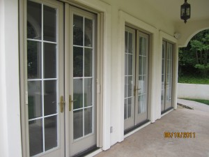 All double sets retractabee screen french doors screens | simi valley screen doors