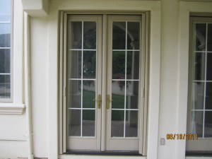 All double sets retractable screen french doors screens