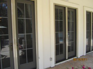 All double sets retractable screen french doors Simi Valley | simi valley screen doors