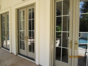 Double sets retractable screen doors Simi Valley