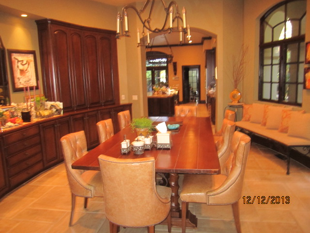 Arched Panels installed in breakfast area |