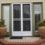 Model-E Double set white Swinging Screen Doors