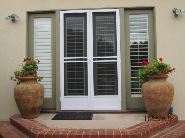 Model-E Double set white Swinging Screen Doors