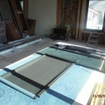 Getting ready for installation a disassembled Motorized Power Screen | Santa Barbara Motorized Power Screens