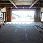Next Installation Motorized Power Screens front view bi-folding doors in 1st floor | Santa Barbara Motorized Power Screens