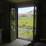 Open set of retractable screen doors in Topanga