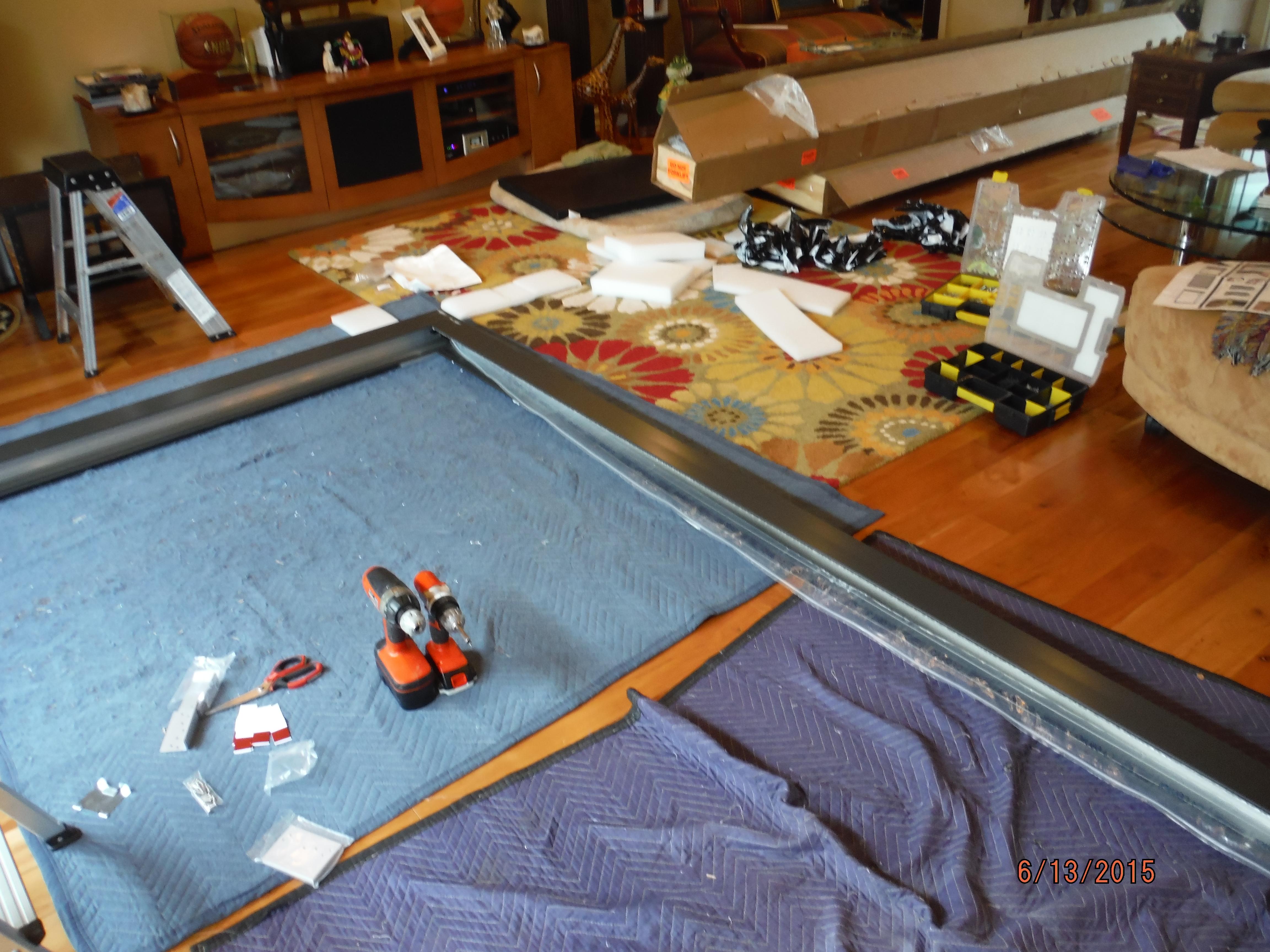 West Hills, CA Centor Arquitectural Screen for Bi-Folding Glass Doors in