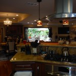 kitchen View of Centor Arquitectural Screen for Bi-Folding Glass Doors in West Hills, CA