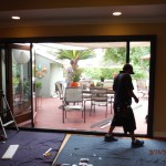 Centor Arquitectural Screen for Bi-Folding Glass Doors in West Hills, CA