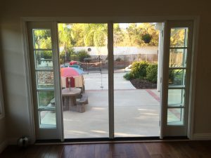 Retractable Screen Doors in Topanga double Set French Doors