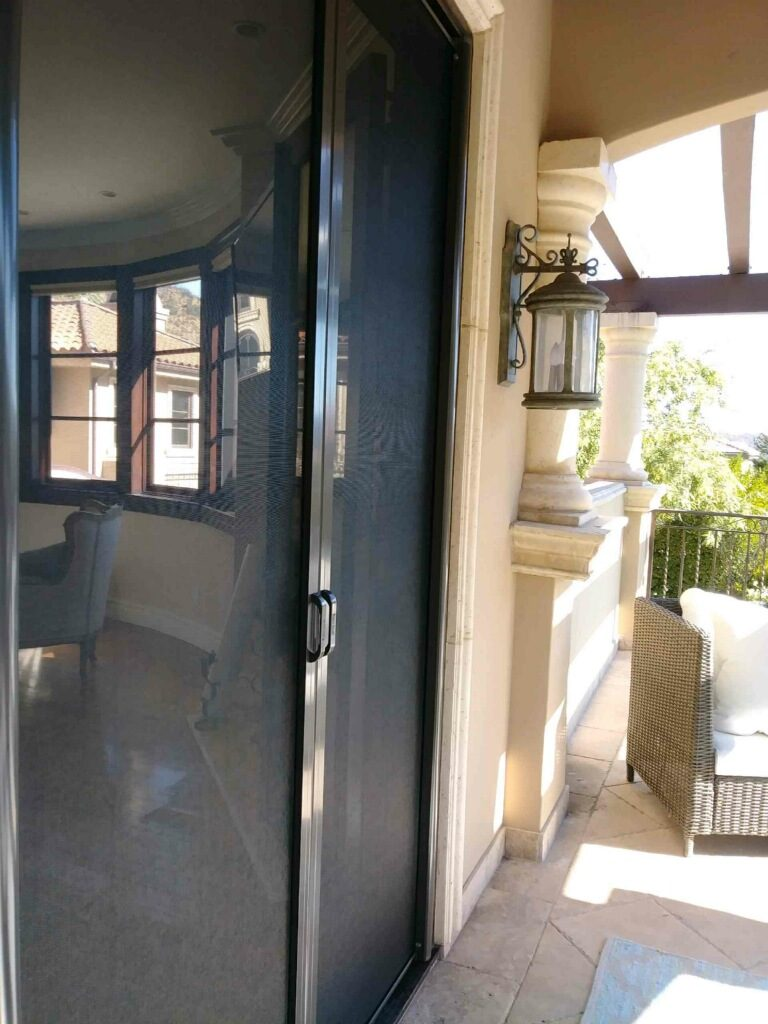 Black Retractable Screen Doors