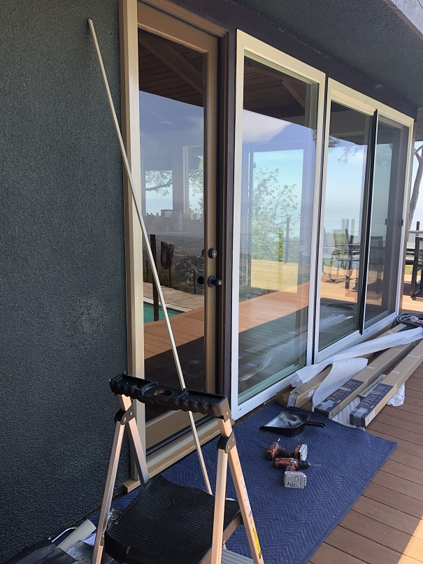Installing an invisible screen door