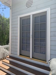 | Pocket doors can be installed on a sliding patio screen door encasement as well as in a single swinging door or a double set french door.